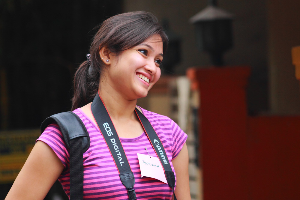 Poornima Raju giving a smile